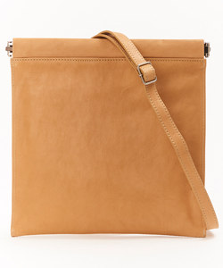 "LEATHER SHOULDER BAG ""SPRING CLOSURE"""