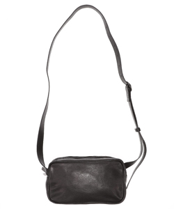 LEATHER SHOULDER BAG DOUBLE