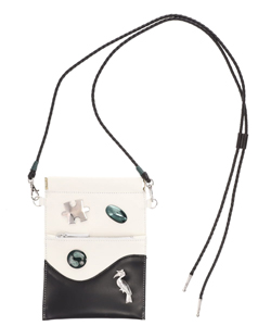 NECK STRAP LEATHER BAG