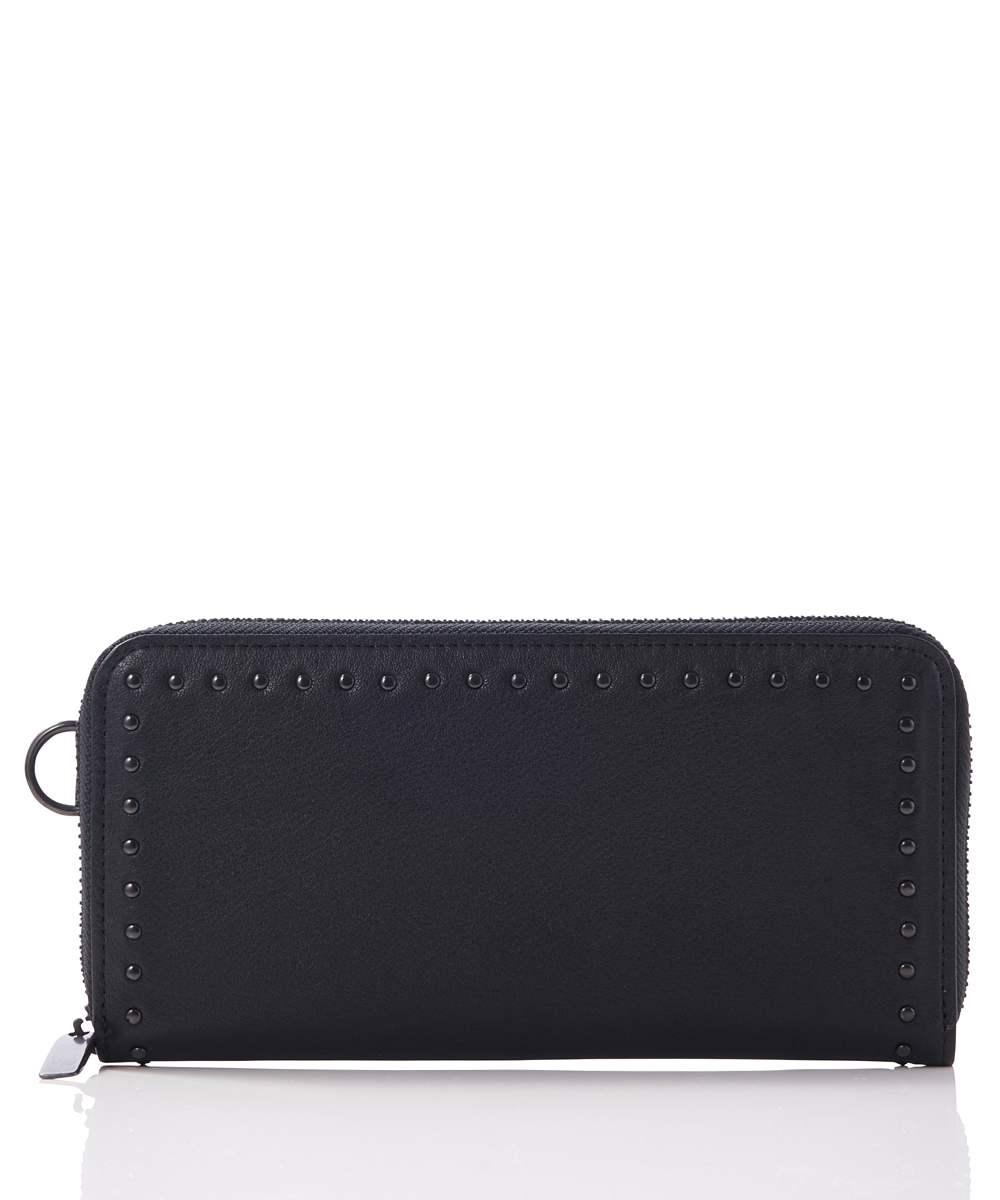 LEATHER LONG WALLET FOLD 'COMER STUDS' KS
