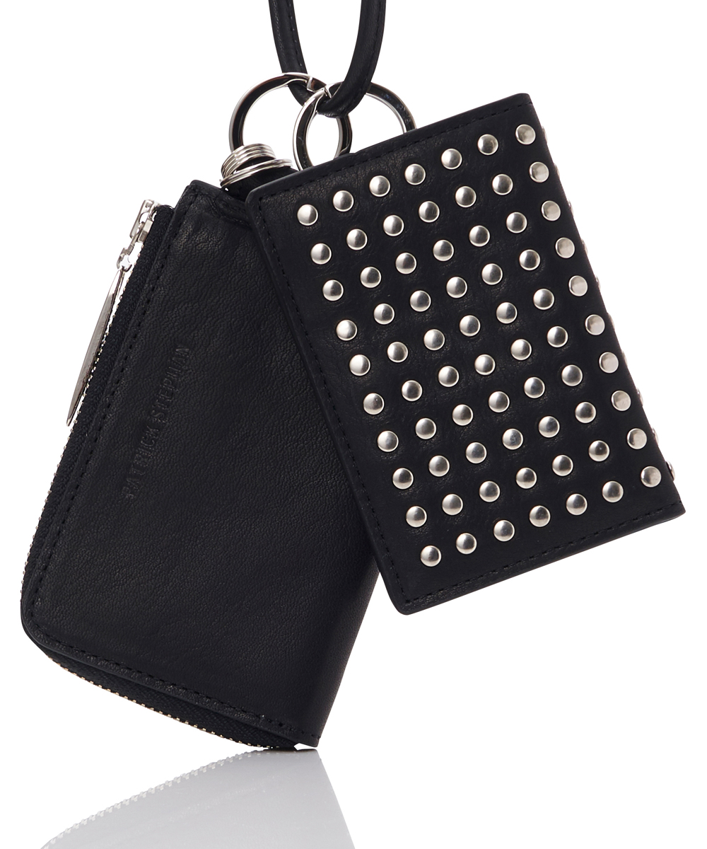 LEATHER WALLET&CARDCASE EMPTY-HANDED ALL STUDS
