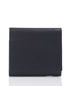 LEATHER SHORT WALLET BELLOWS