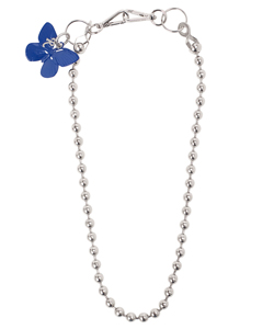 BALL WALLET CHAIN WITH BLUE BUTTERFIY