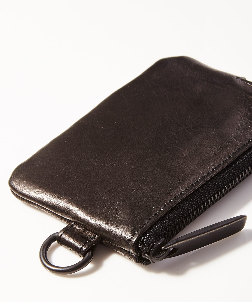 LEATHER COINS CASE MINIMAL SHINE