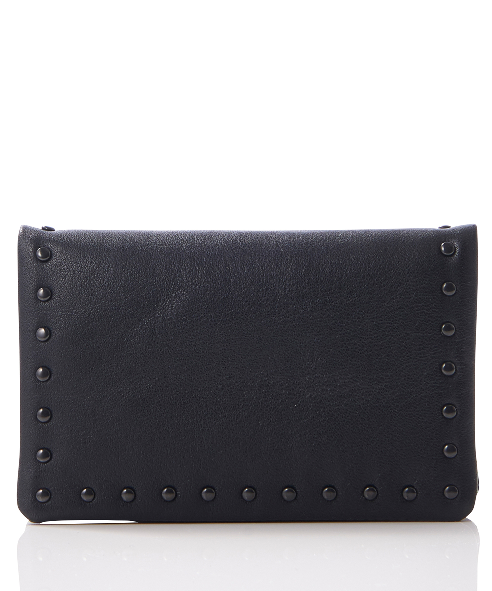 LEATHER CARD CASE COMER STUDS KS