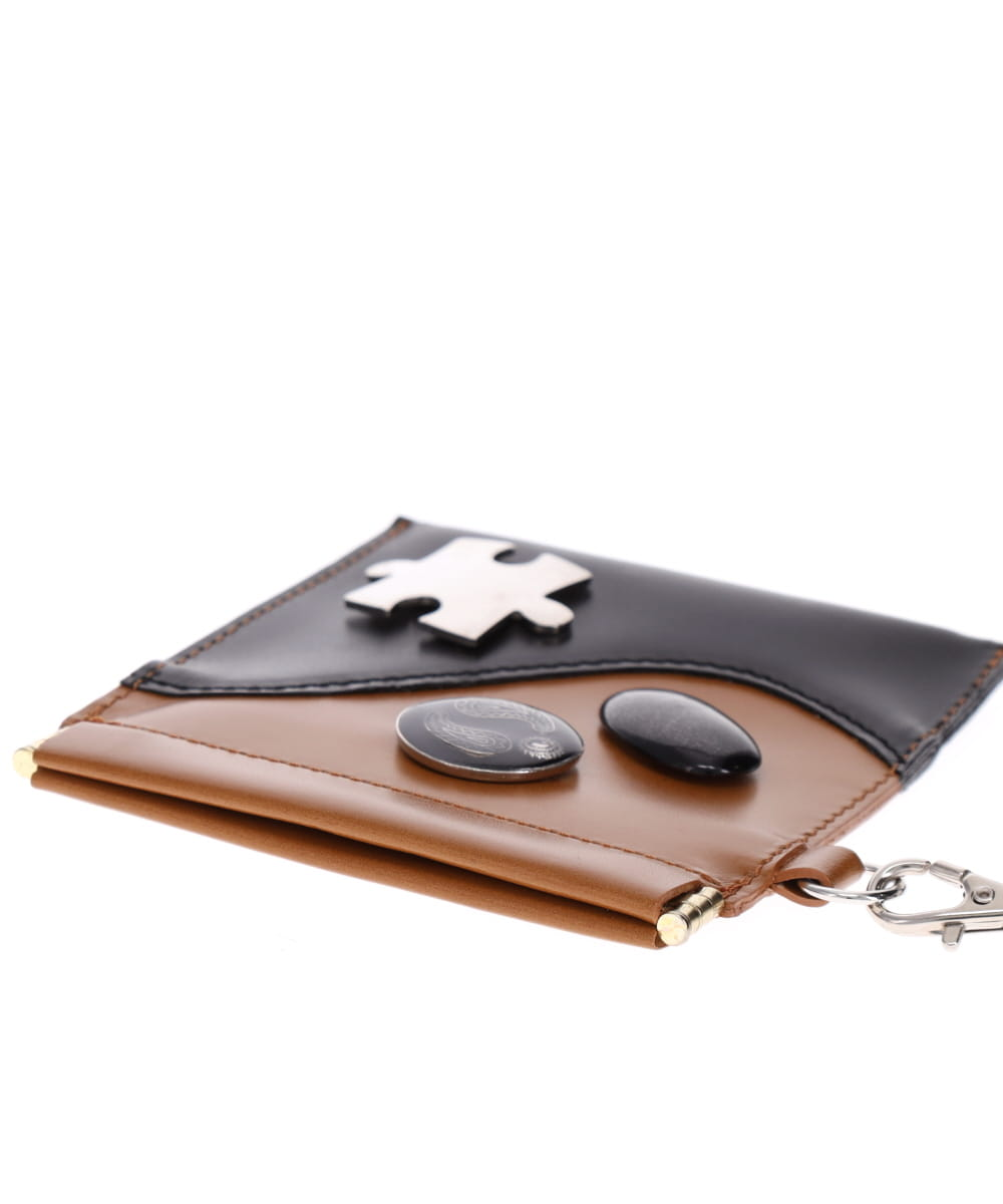 NECK STRAP LEATHER COIN CASE