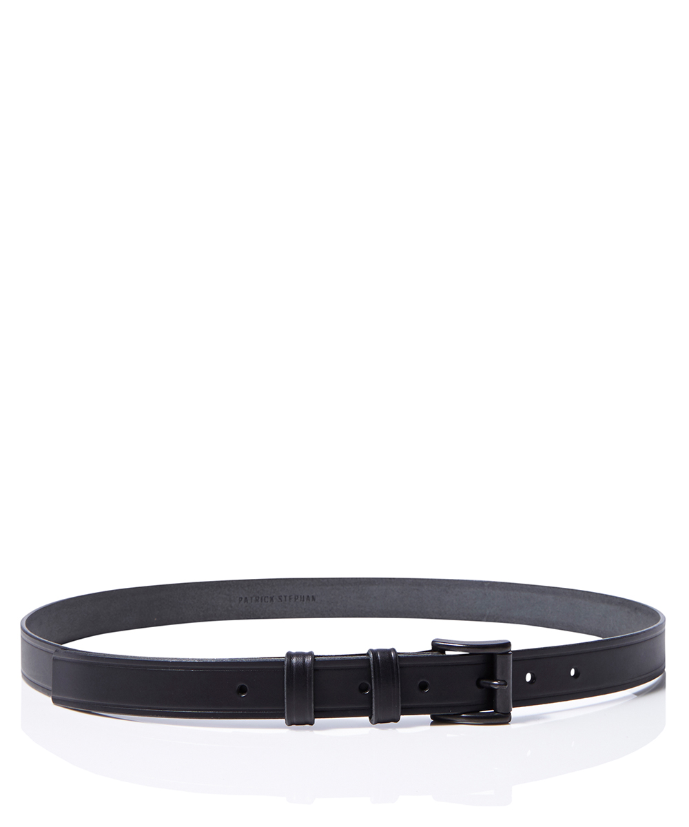 LEATHER BELT SKINNY LINE