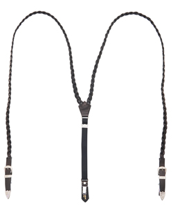 BRAID LEATHER SUSPENDERS