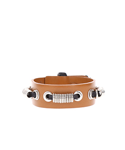 METAL LEATHER BANGLE