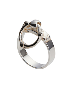 SINGLE BONE SHAPED RING NARROW RING.