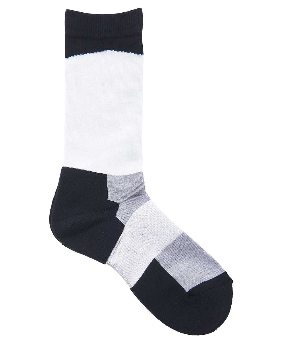 SLANTING BI COLOR SOCKS