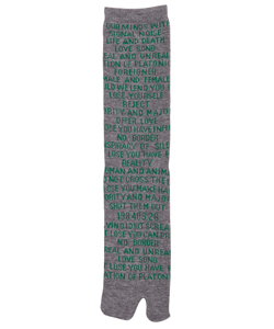 QUOTES JACQUARD SOCKS