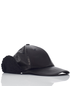 COW LEATHER EARMUFF CAP