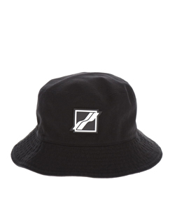 BLACK SQUARE LOGOBUCKET HAT