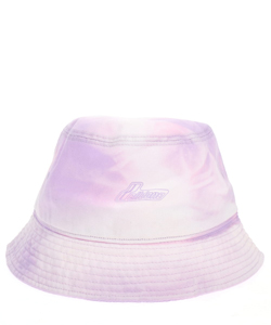PURPLE IRIDESCENT LOGO HAND-BLEACHED BUCKET HAT