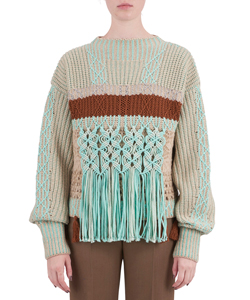 MAKURAME CABLE KNIT SWEATER