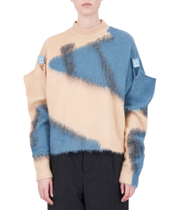 CROPPED MOHAIR CREW NECK KNIT