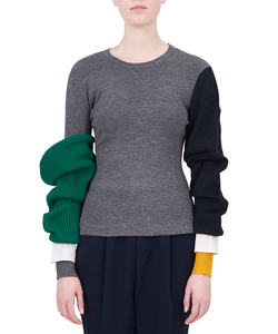 ARM LAYERED PULLOVER
