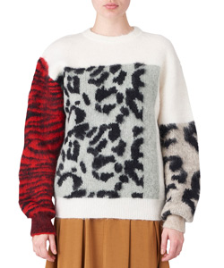 MOHAIR JACQUARD PULLOVER