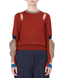 SOCKSED ELBOW PULLOVER