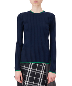POINT COLOR RIB KNIT