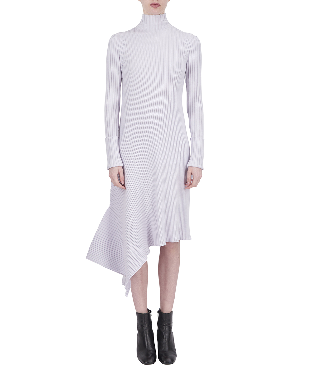 ASYMMETRY KNIT DRESS