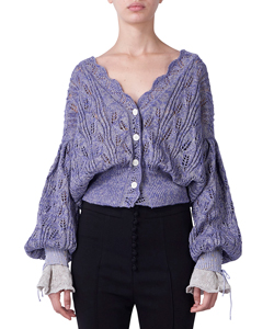 SILK LINEN KNIT CARDIGAN