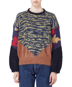 ANIMAL JACQUARD KNIT PULLOVER