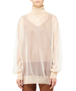 SHEER KNIT HIGH NECK