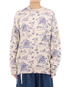 PRINT KNIT PULLOVER ANIMAL