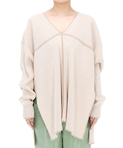DOUBLE FACE LINE KNIT