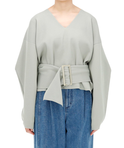 OVERSIZED BELTED SWEATER