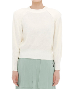 VIOLA PADDED SHOULDERS PULLOVER