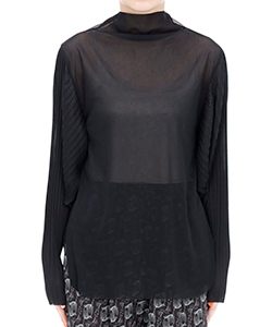 RANDAM PLEATS SHEER TOP