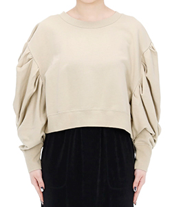COTTON POWER SHOULDER SWEAT