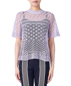 NET LACE KNIT T-SHIRT