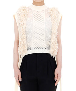 MIXED FRINGE CROP TOP