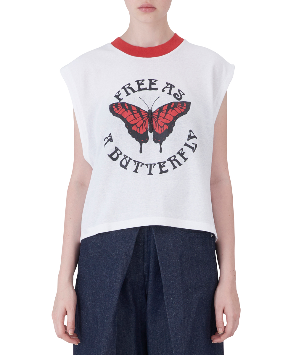 BUTTERFLY GYM CROPPED TANK