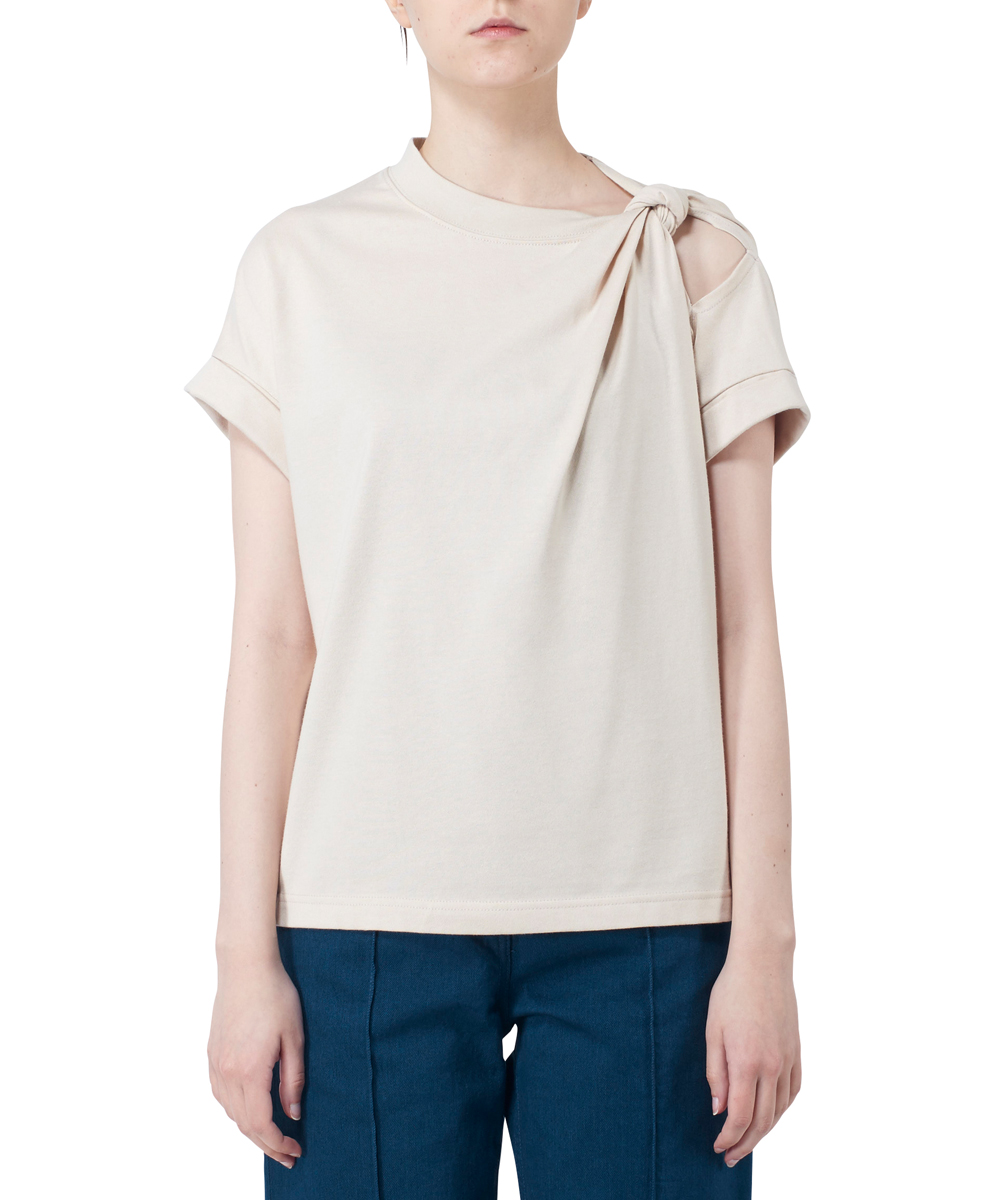KNOTTED SHOULDER T-SHIRTS
