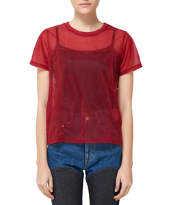 SEE-THROUGH SWITTING T-SHIRT