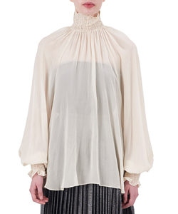 SHIRRING PEASANT BLOUSE