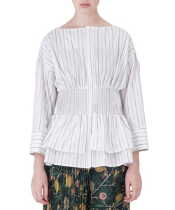 PLEATS WEST BLOUSE