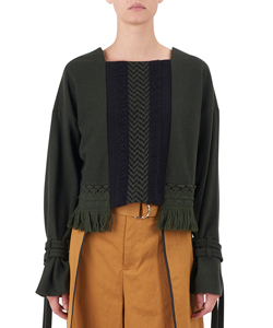 GEOMETRIC WOOL LACE BLOUSE