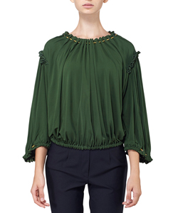 DRAWCORD SHIRRING TOP