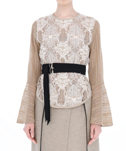 LACE BELT BLOUSE