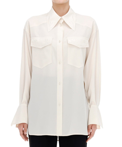 EMBROIDERED SHIRT WITH ENLARGED CUFF