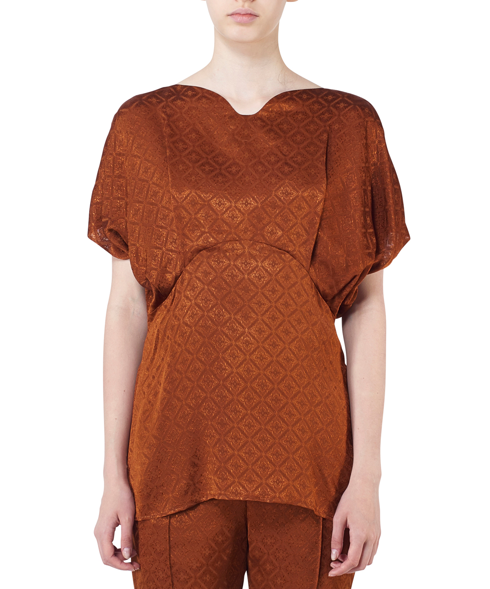 DRAPED SLEEVES KOMON TOPS
