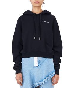 QUOTES CROPPED HOODIE