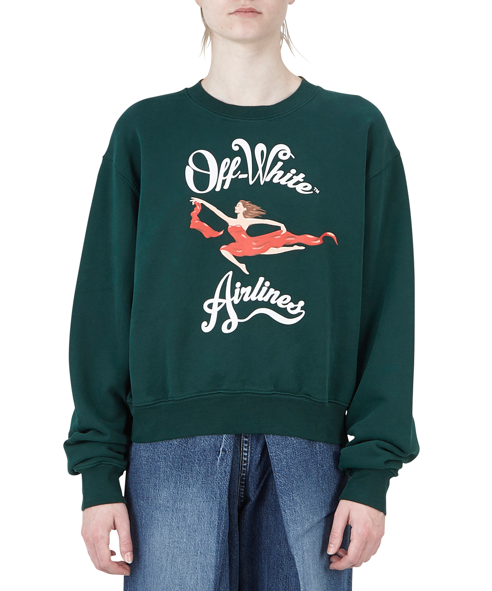 """OFF-WHITE AIRLINES"" スウェット"