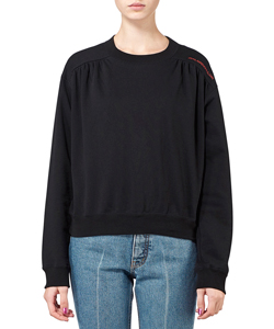 COTTON SWEAT GATHERED PULLOVER SHIRT